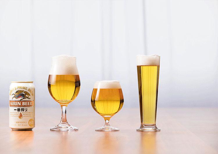器で変わるビールの味わい|キリン オンラインショップ DRINX