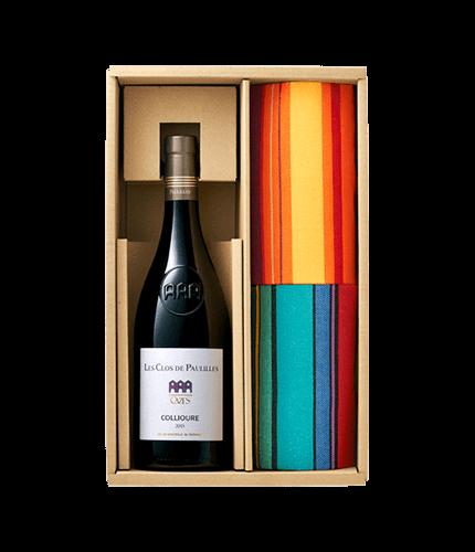 美食ワインのテーブルセット